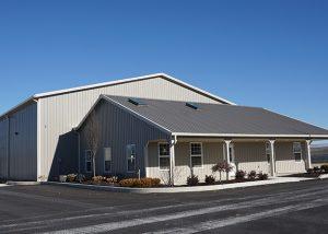 Grey building exterior