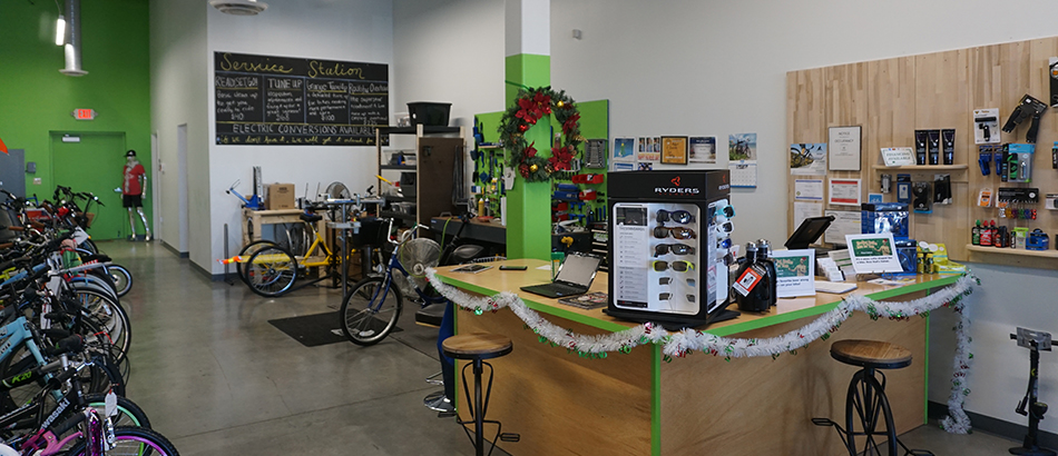 Bicycle Showroom checkout counter