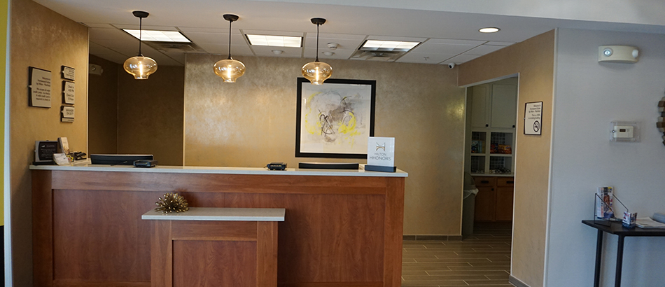 Reception Desk at Homewood Suites