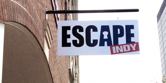 Escape Indy Sign