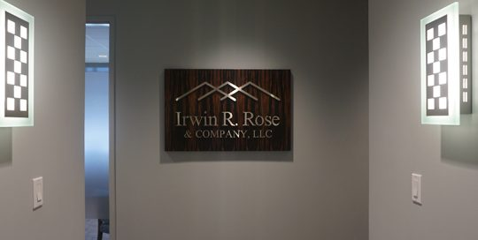 Irwin Rose & Company Sign on wall