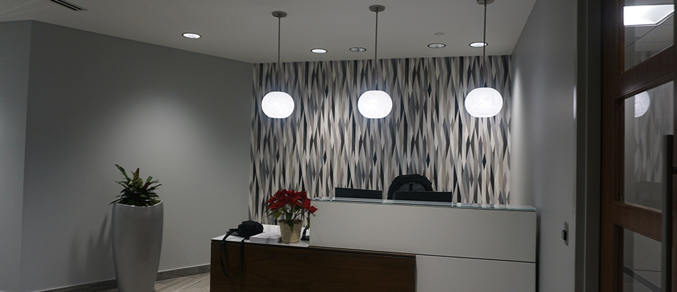 Receptionist Desk at Irwin Rose & Company