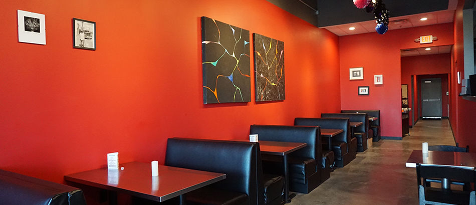 America Pizza interior with tables