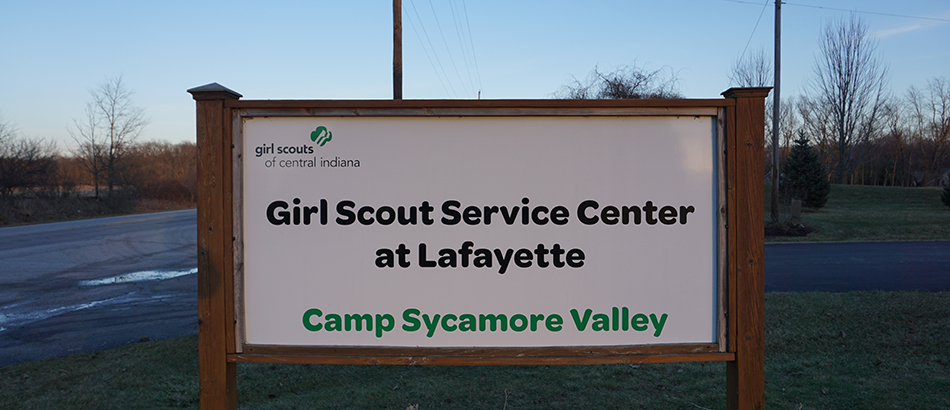 Girl Scouts Learning Center sign