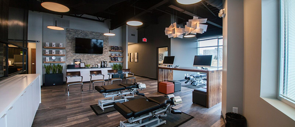 photo of chiropractic office with adjustment tables