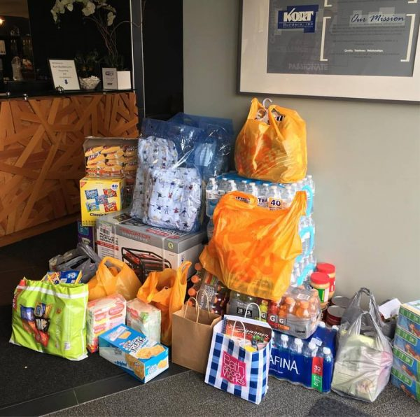 Water and non-perishable food items