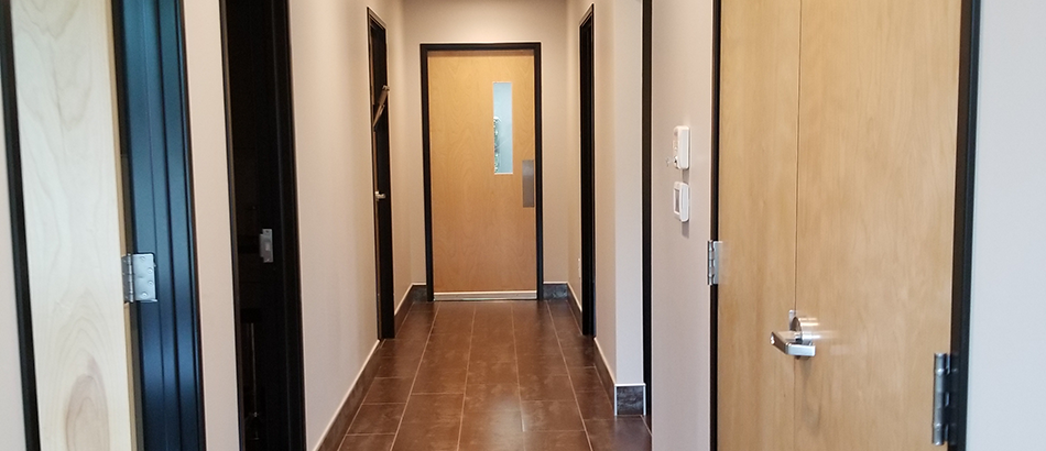 Hallway at Fall Creek Place Animal Clinic