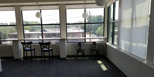Window view with chairs at Innovatemap