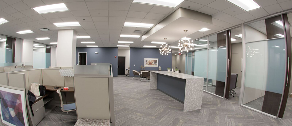 Interior office space at Bedel Financial Consulting