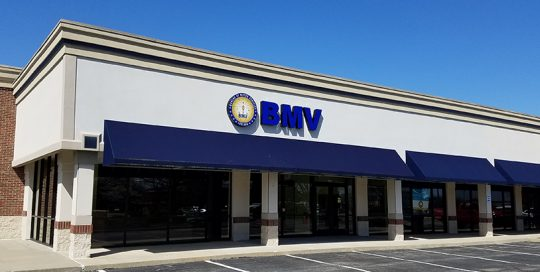 BMV Merchants Square exterior image of the building in Carmel