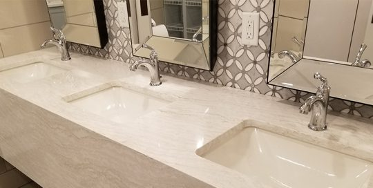 Kappa Delta Sorority bathroom sink remodel