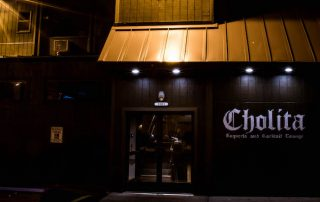 Exterior entrance of the Cholita Taqueria in Broad Ripple