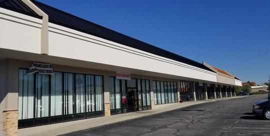 New facade on the Hanna Shoppes
