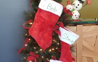 Christmas Stockings hanging up