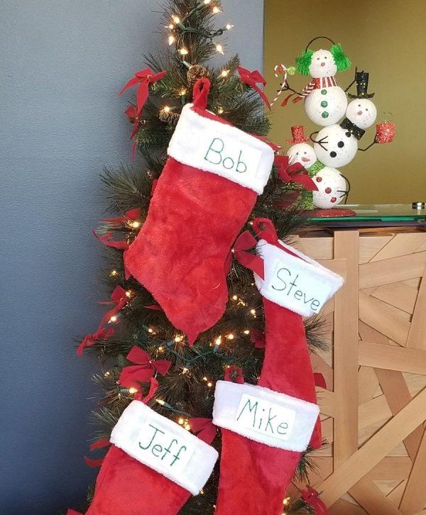 Christmas Stockings hanging up