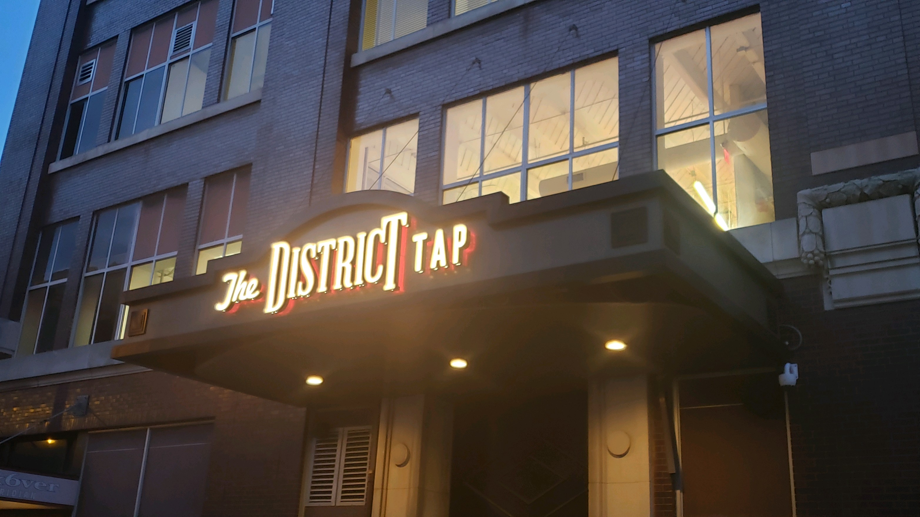 District Tap Exterior signage