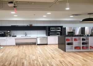 Kitchenette area with cubbies