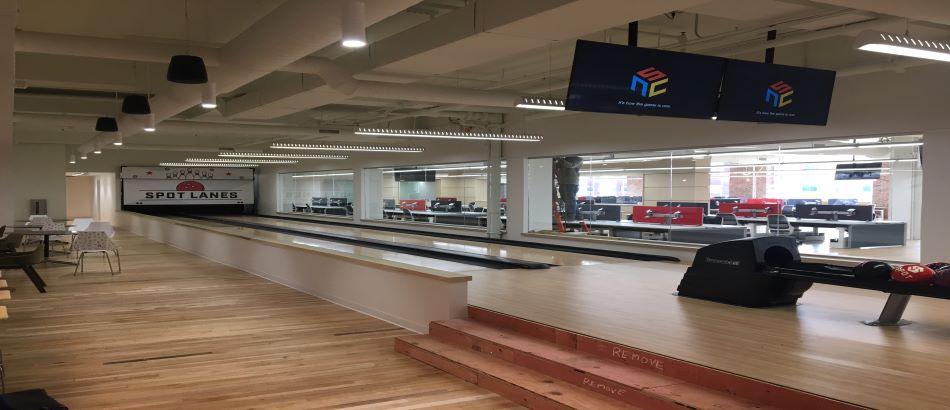 Bowling Alley lanes in office