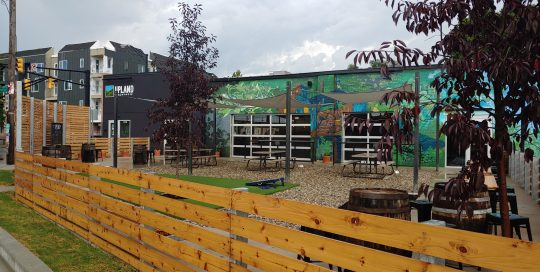 Exterior Mural and seating at Upland in Fountain Square