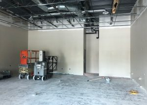 Drywall in Progress