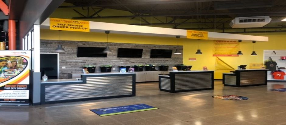 Check-In Area at Indy Urban Air